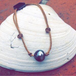 Robert Wan Tahitian Black Pearl Bracelet 🌴🗿